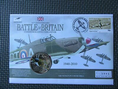 2010 - 70th Anniversary Of The Battle Of Britain - Guernsey £5 Coin Cover