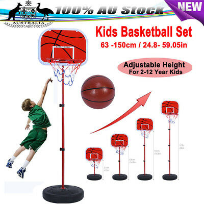 63-150cm Indoor Mini Basketball Hoop Ring Backboard Mount Kit Kids Toy Gift