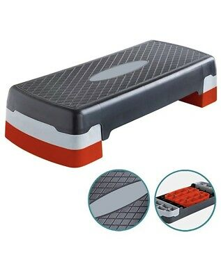 Adjustable Aerobic Step Stepper Exercise Cardio Pilates Training Gym Board Block