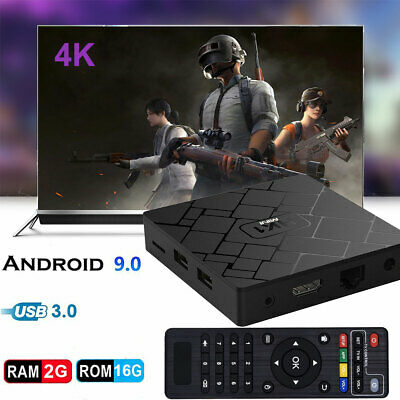Q plus 6K Android 9.0 4+32G Quad Core Smart TV Box 3D Movies Films WIFI Media FR