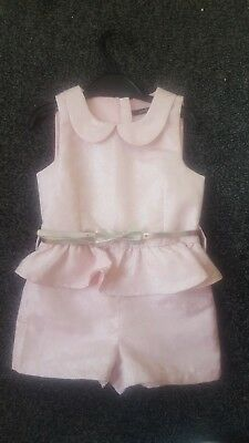 Girls Mini V Pink Playsuit Age 3 !!!