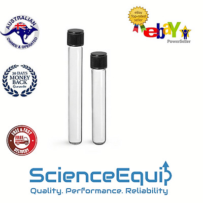 Culture Test Tubes Glass FLAT BO. 25*50mm with Screw Caps, 10ml, 0.34 Ounce
