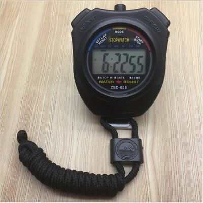 ZSD-008 Handheld Digital LCD Sports Stopwatch Chronograph Timer With Strap VE