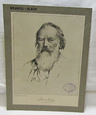 Project Pack BRAHMS. Music sheets for decoupage, scrap booking journaling card