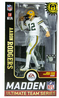 Aaron Rodgers Green Bay Packers McFarlane Toys Madden NFL 19 Team Series 1  NEW 82cc64d21