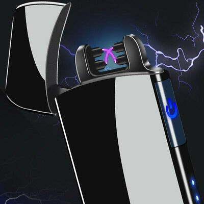USB charging Double arc lighter Windproof flameless No gas electronic lighters