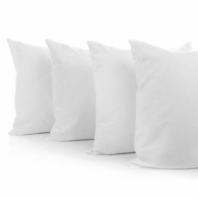 Set of 4 Medium Pillow for Family Hotel Air BnB Back Back Sleeper cotton Cover