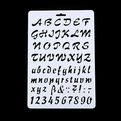 Re-usable Alphabet / Letters / Numbers  Stencil Template for Arts and Crafts