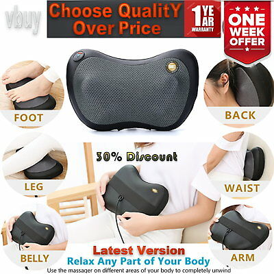 Shiatsu Kneading Electric Pillow Massager For Neck Shoulder Back Body with Heat