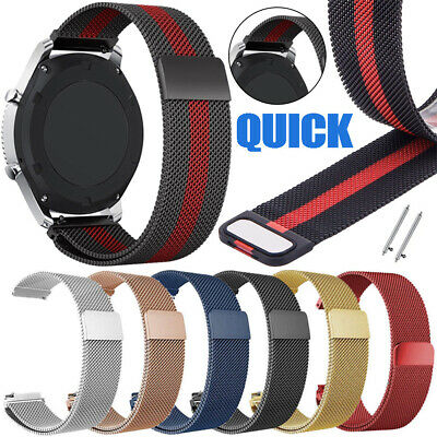 Milanese Loop Bracelet Wrist Watch Band Strap For Smart Watch Magnetic 20mm 22mm
