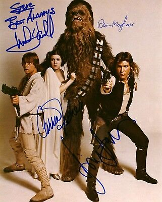 New Art Print of 1977 Autographed Photo 8 1/2 X 11 Star Wars IV A New Hope Cast