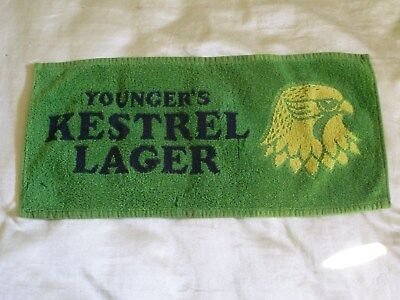 Youngers Kestrel Lager Beer Pub Bar Towel Brewery