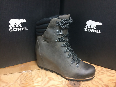 95fcc436d92a WOMENS SOREL Conquest Wedge Waterproof Boot Grey NL2337-052 (1691961-052)