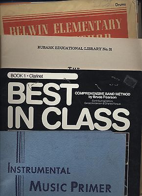 LOT OF 3 Cornet Music Teaching Books - Belwin Band - Hal Freeze