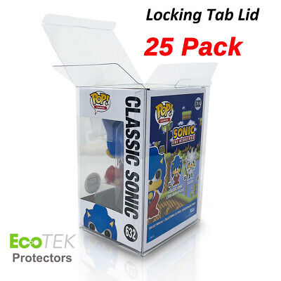 "25 Collectibles Funko Pop! 4"" Vinyl Box Crystal Clear Acid Free Strong Protector"