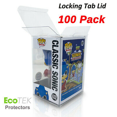 """100 Collectible Funko Pop! 4"""" Vinyl Box Crystal Clear Acid Free Strong Protector"""