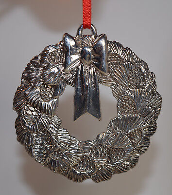 Reed & Barton Silver Plate Pinecone Christmas Wreath Ornament (Ornament Only)