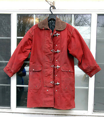 Fireman's Turn Out Coat (RED) 40-42-34 Good Condition Collectable