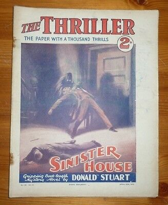 THE THRILLER No 64 Vol 2 26TH APR 1930 SINISTER HOUSE BY DONALD STUART