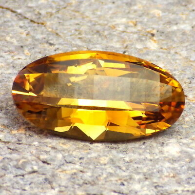 NATURAL CITRINE-MALAWI 13.60Ct FLAWLESS-BEST CITRINE OBTAINABLE-RARE-VIDEO!