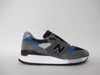 New Balance 998 Made in USA Grey Black Blue White Sz 8 M998NF