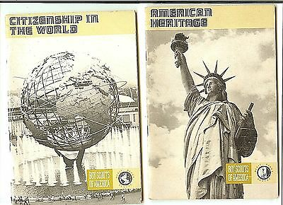 Books manuals boy scouts fraternal organizations historical boy scout merit badge book citizenship in the world american heritage set of 2 fandeluxe Images