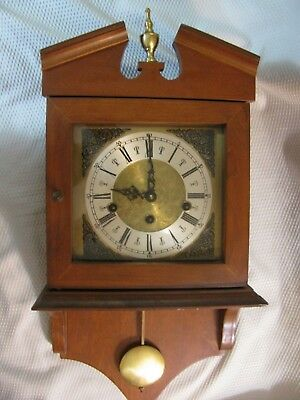 Vintage Wooden Clock  Contains Original Works, Chime, Hands & Face