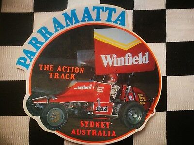 Collectable Speedway Stickers Sprintcar