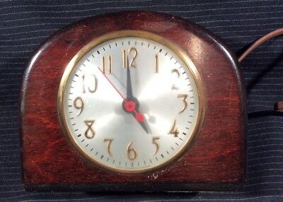 Vintage Sessions Mantle Electric Clock Art Deco Style Solid Wood