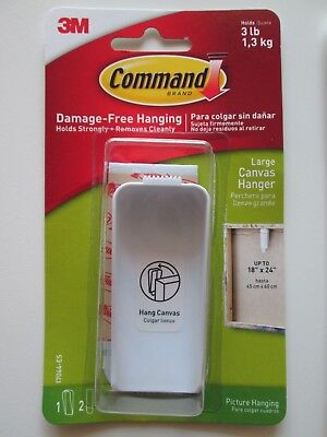 Command Large Canvas Hanger Damage-Free Hanging 3lb Capacity New in Box