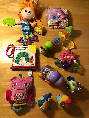 BABY INFANT GIRL Toddler Lot Of 11 toys Fisher Price Infantino ...