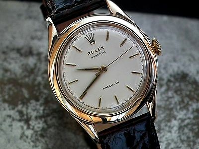 Exceptional 1954 Oversize Solid 9ct Gold Rolex Super (automatic) Precision