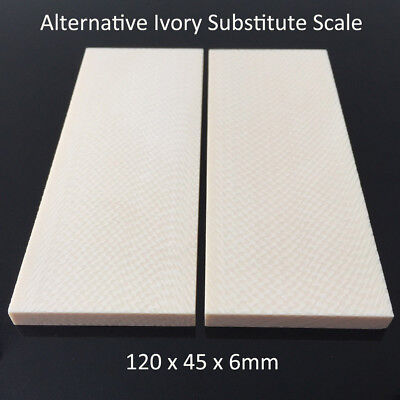 1911 Grip / Alternative Ivory Substitute Knife Handle Blank Scale Arvorin 1 Pair