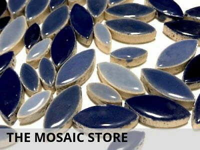Blue Mixed Ceramic Petals - Mosaic Tiles Supplies Art Craft
