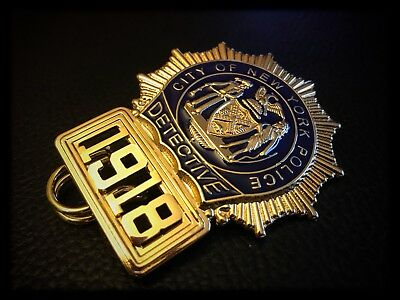 Historisches US Polizei Badge: New York City Police ✪ Detective ✪ N*Y*P*D ✪ CSI