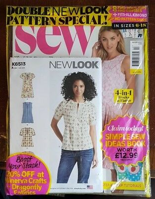 Sew Magazine #113 - August 2018 In Sealed Pack With 2 New Look Patterns ~