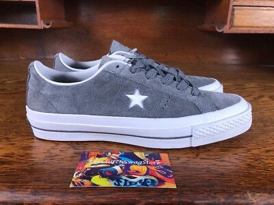 4950fa7878b84f Converse One Star Suede OX Mens Low Top Skate Shoes Grey White 153962C Size  5.5