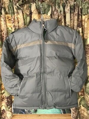 New Boys Perida Winter Jacket With Removable Hood Size 8. Light Grey.