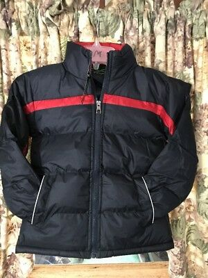 New Boys Perida Winter Jacket With Removable Hood Size 8