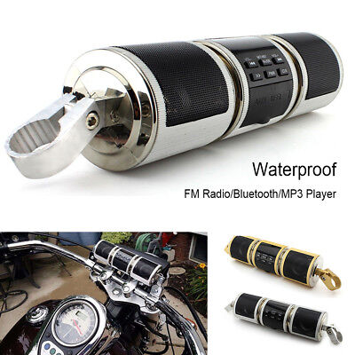 Motorcycle Bluetooth Audio Sound System MP3 FM Radio Stereo Speakers Waterproof~