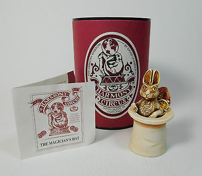"""NEW! Harmony Kingdom / CIRCUS """"Magician's Top Hat"""" Lawrence 1996 Eng - HCTO"""