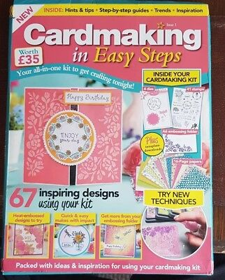 Cardmaking in Easy Steps Issue 1 Free Dies and Stamps Papers +lots more