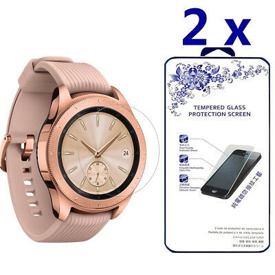 2-Pack For Samsung Galaxy Watch 42mm Tempered Glass Screen Protector