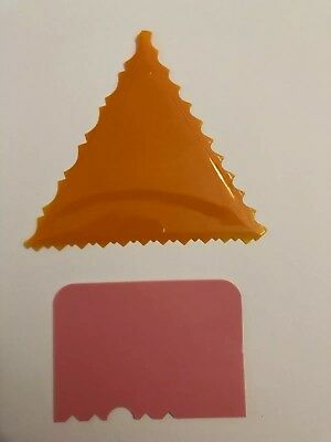 Cake Decorating Fondant Texture Triangle, Cake Side Smoother