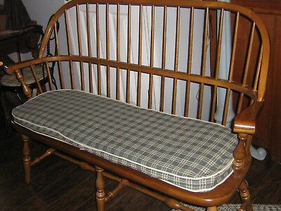 Ethan Allen Solid Maple Windsor Style Bench  Settee