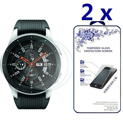 2-Pack For Samsung Galaxy Watch 46mm Tempered Glass Screen Protector