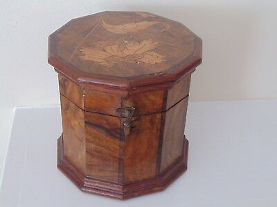 Antique Fruitwood Tea Caddy