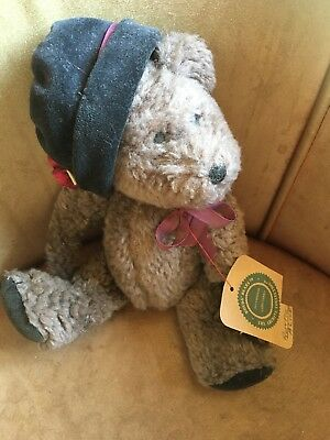"""BOYDS BEARS AUNTIE ALICE 10/"""" JOINTED INVESTMENT COLLECTION HAT PLUSH BEAR"""