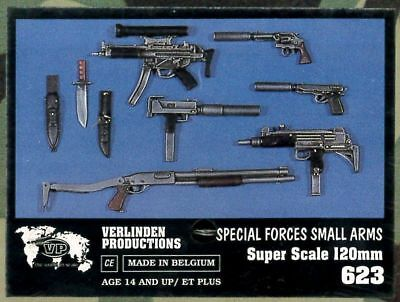 Verlinden 623 - Special Forces Small Arms 120mm Scale  1:16