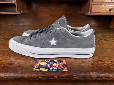 Converse One Star Suede OX Mens Low Top Skate Shoes Grey/White 153962C Size 9